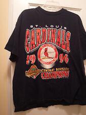 St. Louis Cardinals 1996 Central Division Men's SS T- Shirt, Size XL, Blue-Preow