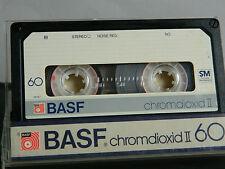 BASF Chromdioxid CR II 60 1981  UNBESCHRIFTET Kassette Tape