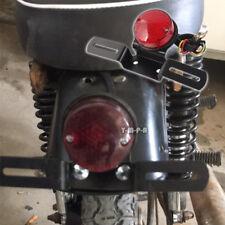 Cafe Racer Chopper Bobber Motorcycles Round Red Led Rear Tail Brake Stop Light M(Fits: Boss Hoss)