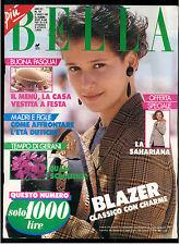 PIU' BELLA N. 13 27 MARZO 1989 MODA ITALIAN FASHION MAGAZINE UNCINETTO CUCITO