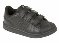 Boys Black Back To School Children Kids Sports Shoes Size 8 9 10 11 12 13 1 2 3