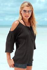 3/4 Arme Damenblusen,-Tops & -Shirts im Tuniken-Stil mit Baumwolle für Freizeit