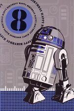 8th Birthday Card - Star Wars R2-D2 - Age 8 Eighth R2D2