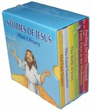 6 X Story of Jesus Mini Library Set Board Books Children Party Filler 2615sjml