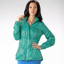New PrAna Yoga Tegan Jacket Athletic Outerwear Wind Breaker Turq Blue S Women