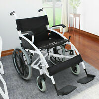 New Folding Wheelchair Self Propelled Lightweight Transit Footrest Armrest Brake