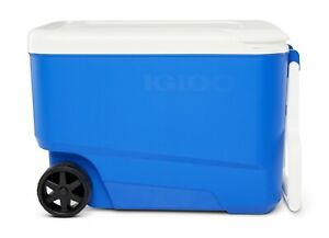 Igloo 38-Quart Hard Ice Chest Cooler with Wheels - Blue