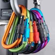 3x Aluminum Carabiner D-Ring Keychain Clip Snap Hook Camping Keyring Screw Lock