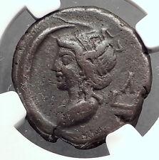 COMMODUS 189AD Alexandria Egypt Tetradrachm Ancient Roman Coin SELENE NGC i63185