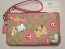 Coach Poppy Chan Pinky PVC Signature C Large Wristlet NWOT Coach Box & Tissue
