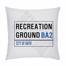 RUGBY FOOTBALL GROUND STREET SIGN CUSHION / PILLOW INC PADDING. BATH RUGBY