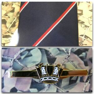 Royal Navy (Stripe) Tie & Tie Bar Set RN Coronet Crown