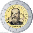 2 EURO ITALIA 2014 Galilei Galileo Galilei 1564-2014 ritratto da Sustermans Rara