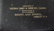 1903-04  Shediac Boot & Shoe Co New Brunswick Calendar Day Book Leather Wrapped