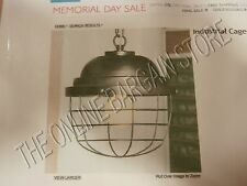 Pottery Barn PBT Teen Industrial Caged globe Cage Pendant Light Lamp Chandelier