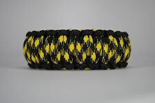 550 Paracord Survival Bracelet King Cobra Black/Yellow/Bumblebee Camping