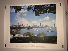 Original Vintage Poster Chicago Skyline National Printing Equipment Show Display