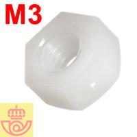 (lote 10pcs) Tuerca nylon M3 (Arduino, prototipos)