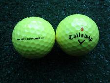 15 gelbe Callaway HEX Chrome Golfbälle AAAA - AAA