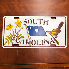 Vintage South Carolina License Plates State Flag Bird Tree