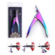 BORN PRETTY False Tips Edge Clipper Cutter Colorful Fake Nails Nipper Nail Tools