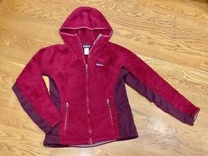 Women's PATAGONIA Regulator R3 Fleece Hoodie Sweater Jacket Small Magenta Pink
