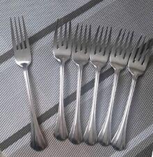Margate by Pfaltzgraff 18/8 5 Salad Forks 1 Dinner Forks Stainless Flatware