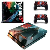 Regular PS4 Console Controllers Friday The 13TH Vinyl Decals Skin Stickers Wraps