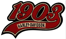 HARLEY DAVIDSON 1903 Script Chenille 11.25 inch Chenille PATCH