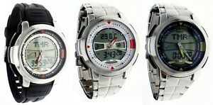 New Casio Analog Digital Watch AQF100 Thermometer World Tide Graph Moon Age WR