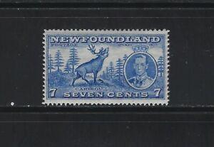 NEWFOUNDLAND - #235 - 7c CARIBOU MINT STAMP MNH KING GEORGE VI LONG CORONATION