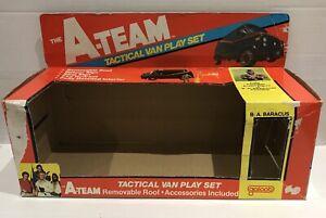 "1983 Genuine GALOOB A-Team Van Tactical Play Set Outer BOX BA Mr T Figure 3.75"""