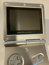 Nintendo Game Boy Advance SP Silver/Platinum - AGS-001 GREAT CONDITION