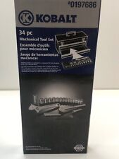 Mechanics Tool Set Kobalt 34 PC NIB