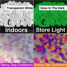 1000PC Glow in the dark Solar UV Bead Loom Band Pony Bead Color Change DIY Craft
