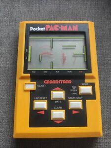 Pocket PacMan Grandstand Vintage LCD Handheld Electronic Game - VGC 1983