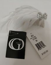 Giovannio Off White Feather Rhinestone Bridal Wedding Hair Comb Accessory $100
