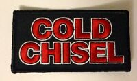 COLD CHISEL LEGEND AUSSIE ROCK BAND MUSIC  Embroided Iron on Patch Badge.