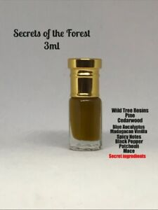 Secrets Of The Wild Forest Attar/ittar 3ml Oil Spicy Rare Resins And Woods