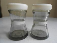 Vintage glass and Plastic Salt & Pepper Shakers
