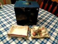 Fitz & Floyd Essentials Kittens & Roses Lidded Box Nib (68)