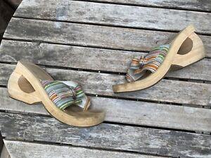 Vintage Y2K Skechers Cali Wooden Wedge Sandals Size 7