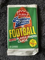 5 PACK LOT 1990 FLEER FOOTBALL PACKS🔥Barry Sanders & lots of other HOF players