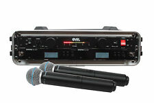 Shure BLX24R/B58 2 Pack Wireless Handheld Mic System with VRL Power Supply