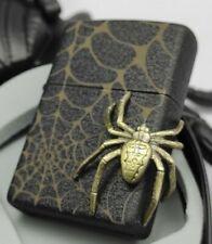 Zippo - Black SPIDER / Spinne - Nr. 0802/1000, LIMITED EDITION (Black Crackle)
