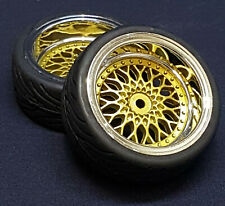 "RC TW 1:10 CLASSIC RÄDER ""CLASSIC BBS STYLE"" CHROM / GOLD 9MM OFFSET # 20191"