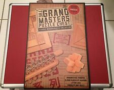 New Grand Masters Puzzle Chest - Classic Wooden Puzzle Collection In Briefcase