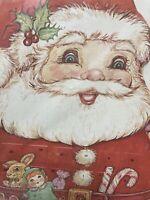 Vintage 1984 Cardboard Santa Advent Calendar Jointed Arms Legs Sealed USA Made