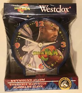 1996 Space Jam Clock * Westclox * Michael Jordan & Bugs Bunny * New