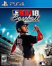 R.B.I. Baseball 18 (Sony PlayStation 4) PS4 new sealed video game